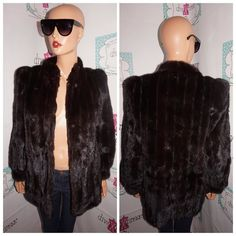 """Up for sale is this lovely Vintage Montrone Dark Brown Mink Coat size L  Flaws: none noticeable  Material:  Shoulder Pads:  yes Pit to Pit: """" 20 Sleeve: """" 16 Overall Length: """" 30  http://ift.tt/1CopG9B #vintage #vintagefashion #vintagestyle #vintagedress #vintageshopping #shopping #ilovevintage #vintage-love #vintageclothing #vintagesale #divaxpress #followme #followmystore #vintagestore #storenvy #vintagelook #vintagefinds #vintagegirl #vintagelover  #thriftsociety #love #summer #16 #power…"""