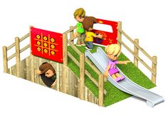 View Tunnel with Slide trim trail playground equipment Online At Action Play & Leisure http://www.actionplayandleisure.co.uk/tunnel-with-slide/