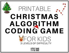 Printable Christmas Coding STEM Activity Game for Kids