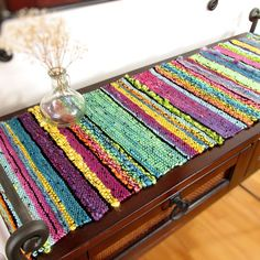 Your place to buy and sell all things handmade Loom Weaving, Hand Weaving, Floral Socks, Hem Stitch, Textiles, Weaving Projects, Black Thread, Tapestry Wall Hanging, Wool Yarn