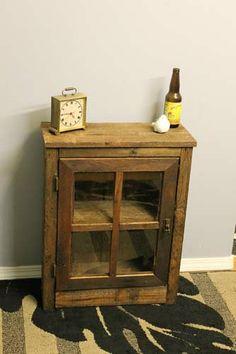 Handmade Reclaimed Wood Pallet Window Cabinet