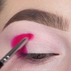 Strawberry lemonade - Make Up Ideas Makeup Eye Looks, Eye Makeup Steps, Eye Makeup Art, Colorful Eye Makeup, Beautiful Eye Makeup, Skin Makeup, Eyeshadow Makeup, Anime Makeup, Bts Makeup