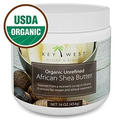 Shea Butter African Raw Unrefined USDA Certified Organic 100 Pure Natural 16 OZ Made By Ghana Womens CoOp BPA Free FDA Compliant Container Excellent for Hair Skin Stretch Marks *** Details can be found by clicking on the image. (This is an affiliate link) Shea Butter Face, Whipped Body Butter, Unrefined Shea Butter, Butter Recipe, Natural Cosmetics, Organic Skin Care, The Balm, Pure Products, Amazon Products
