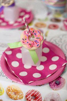 Place Setting from a Donut Themed Birthday Party via Kara's Party Ideas! KarasPartyIdeas.com (21)