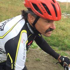 The first 360 for mountain bike legend Tom Ritchey #flowtrail @engadin.stmoritz @ritcheylogic