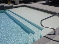 Ever wonder what a gunite swimming pool looks like? Check out our swimming pool gallery and see what professional pools looks like! Backyard Pool Designs, Swimming Pool Designs, Pool Landscaping, Gunite Swimming Pool, Pool House Decor, Moderne Pools, Pool Remodel, Rectangular Pool, Concrete Pool