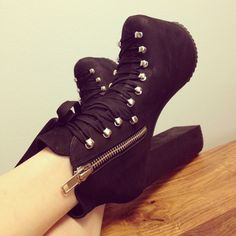 Black platform boots Ahh sadly my feet are too small for any type of beautiful platform shoes or heels for that matter