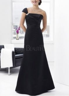 cfac69826839e Formal Dresses .Beautiful A-line One-Shoulder Floor Length Satin Evening  Dress
