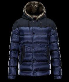 1597df90f21 magasin Blouson Moncler GORAN Homme Capuche Veste Bleu chine Cool Jackets