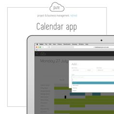 Pure's Calendar App allows you to plan each day, week, month and work schedule for your entire team.   Click  to take a further look at what Pure can offer.