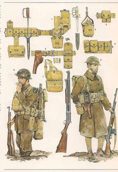 WORLD WAR 1 M 1917/18 EQUIPEMENT.