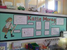 Katie Morag Display... Class Displays, Classroom Displays, Classroom Ideas, Katie Morag, Childrens Books, Literacy, Scotland, Gallery Wall, Year 2
