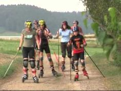 skike - Cross Country Ski''s with Wheels for On and OFF Road. First Video Ever