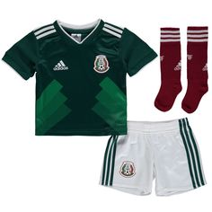 e105875c629 Mexico National Team adidas Toddler 2018 Home Jersey and Short Set -  Green/White