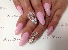 #nailsbydena#stiletto #swarovki#diamond#nailart #nailsdesign