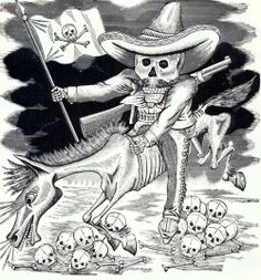 José Guadalupe Posada. Calavera Zapatista. 1910.