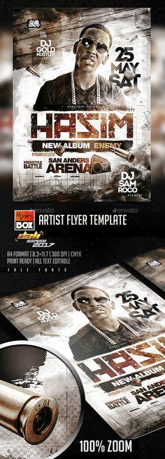 Artist Flyer Template PSD