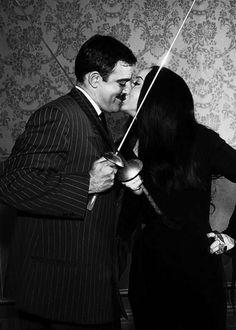 John Astin and Carolyn Jones.  Gomez and Morticia Addams.