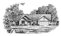 Eplans Cottage House Plan - Ranch Offers Plenty of Living Space - 2096 Square Feet and 3 Bedrooms(s) from Eplans - House Plan Code HWEPL04910