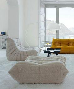 canapé togo, mobilier fantastique, assises géantes