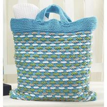 Summer Bag Set - Basket Weave Bag #knit pattern