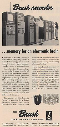 1951 Brush recording ad in Phantom Productions' vintage tape recording collection