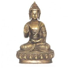 Handmade Buddha Sculpture adding a serene feel to any home   http://www.ananasa.com/blessing-buddha-natural-brass-statue-spiritual-gifts-peace-giver-shakyamuni.html