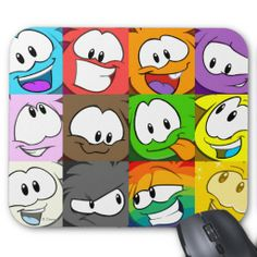 Puffle Expressions Mousepad