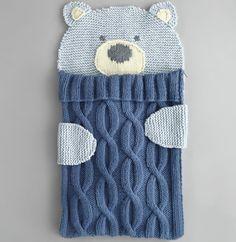 knitted sleeping bag. Little bear. By phildar