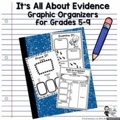 Graphic Organizers (templates with samples) and Literacy Station Materials for Grades 5-9 (priced)