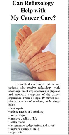 can reflexology help with my cancer care?