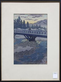 Japanese Woodblock Print, Kasamatsu shiro