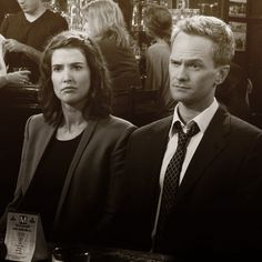 Barney & Robin. Those eyebrows... :)