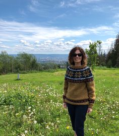 Excited to share this item from my #etsy shop: Handknit own design - #Norwegian #sweater #knitted #knit #handknit #norway #nordic# #wool