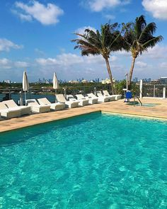 Enjoy your Monday morning Miami Beach style at our adults only pool! #tranquilitypool #SoMiami #miamimornings