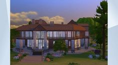 Check out this lot in The Sims 4 Gallery! - This big family cabin has everything you need! A basement, 3 livingrooms, 2 dining areas, 6 bedrooms, 4 bathrooms, and lots of entertainment including an outdoor pool. MOO #moo #fun #familycabin #cabin #family #house #brown PLEASE DON'T COPY OR STEAL. x x x
