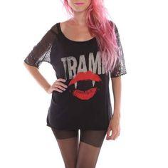 Iron Fist Vamp A Tramp Sequin Raglan Top