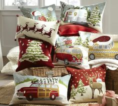 Love these Pottery Barn pillows!
