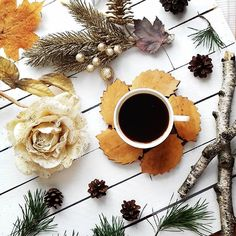 Вечерний кофетайм как никогда дает повод для творческих фантазий, и когда за окном уже желтеют первые осенние листья, стихи о самом прекрасном времени года напрашиваются сами собой: Чарующая осень за окном, И кисть художника в руке Рисует яркий и волшебный сон, И краски осени разбрасывая на холсте, И проявив картину волшебством, Всю красоту художник взмахом воссоздал, Слегка мазнув по листьям ранним, Одел он их в золоченные платья, И сплел короны из венков, Ведь лес осенний своею сказко...