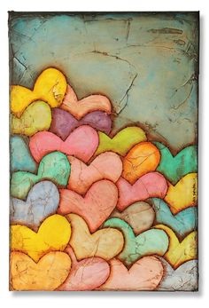 hearts. I love the idea of this. It could be done with flowers as well...or leaves for autumn or even pumpkins--anything!