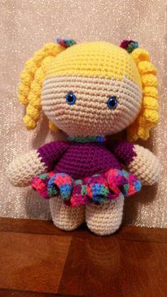 Big Head Baby Doll with Curls by TreasuresByRonni on Etsy