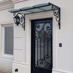 Super Ideas For Pergola De Hierro Forjado Iron Pergola, Metal Pergola, Fence Gate Design, Grill Door Design, Modern Front Door, Wrought Iron Doors, Door Canopy, Pergola Attached To House, Iron Decor
