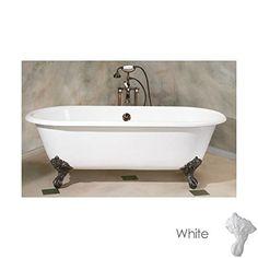 Cheviot Regal Cast Iron Claw Foot Bathtub White / White With White Feet