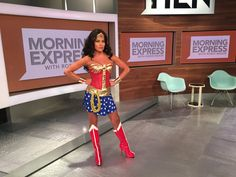 Robin Meade Wonder woman Boots