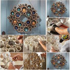 DIY Modern PVC Wreath