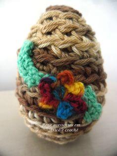 crochet egg easter, ovo de crochê páscoa