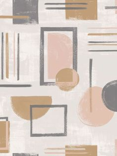 Nordic Geo is a Scandinavian-inspired geometric, featuring painterly lines and shapes on a brush mark ground. This modern colourway in coral, grey and ochre will add an on trend contemporary look to your home decoration. This wallpaper could be used to create a striking feature wall or to decorate an entire room. This high quality wallpaper benefits from being a paste the wall paper, which means it is incredibly easy to apply and work with whilst decorating. Coral Wallpaper, Geometric Wallpaper, Bedroom Wallpaper, Pastel Colors, Bold Colors, Colours, High Quality Wallpapers, Geometric Designs, Cool Patterns