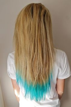 Dip dyed; dont like the dip-dyed look, but i like the color. Maybe too spring-ish though?