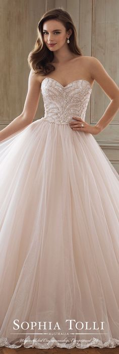 Sophia Tolli Wedding Dress Spring 2018 Bridal Collection - Blush ball gown