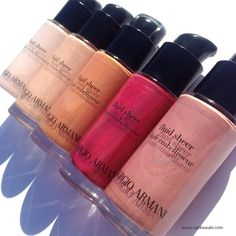 """Good morning! My review and swatches of the @armani fluid sheers now live on the #blog. Direct link in bio."""